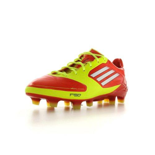 Adidas F50 Adizero TRX FG J SYN Fussballschuhe orange/weiß/gelb