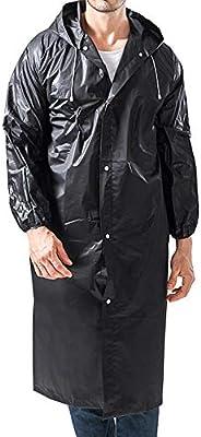 Sports Rain Coats for Adults EVA Reusable Long Rain Ponchos with Hood Women Men Outdoor Weather Jacket Accesso