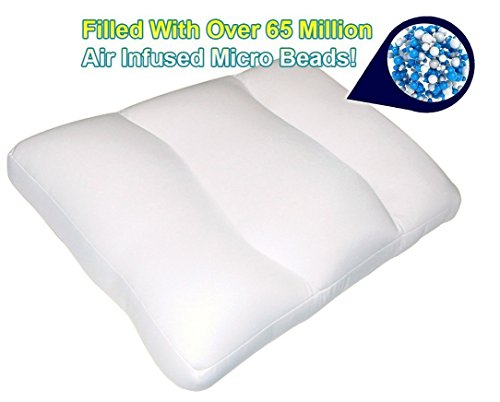 (2PC - Air Infused Micro Bead Cloud Pillow - Queen Size)