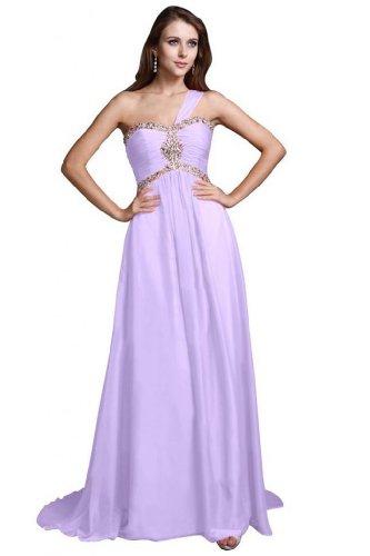 Chiffon One lungo Sunvary elegante sera Vestito Lilac Shoudler linea da wgWPUq