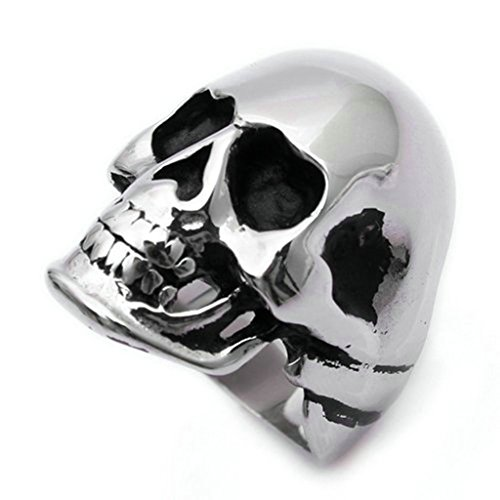 Star Lord Costume Ebay (Stainless Steel Ring for Men, Skull Ring Gothic Silver Band 2430MM Size 9 Epinki)