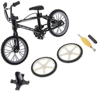 Sharplace 3 Piezas Modelo de Bicicleta de Dedos, Azul + Negro + ...