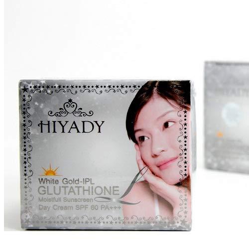 Hiyady White Gold-IPL Glutathione Day Cream SPF 60 PA+++ 15ml. Clear skin, white Sunscreen, Anti-melasma, Reduce wrinkles