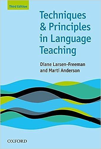 Amazon com: Techniques and Principles in Language Teaching