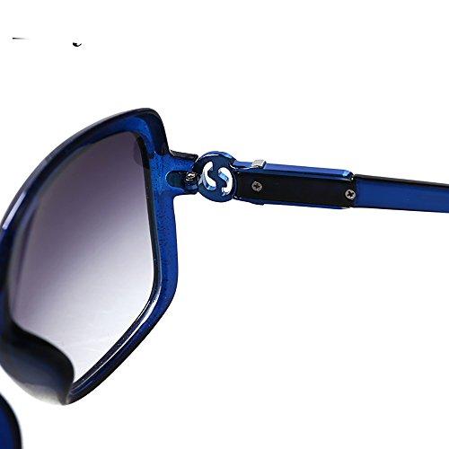 De La Gafas Gafas Larga Vendimia Polarizadas Color Redonda Para UV Eye Cara Azul sol Luz BSNOWF Cara Azul de De Mujer Anti zxqzvwF