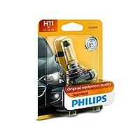 Philips H11 bombilla de faro de repuesto halógena auténtica estándar, 1 paquete