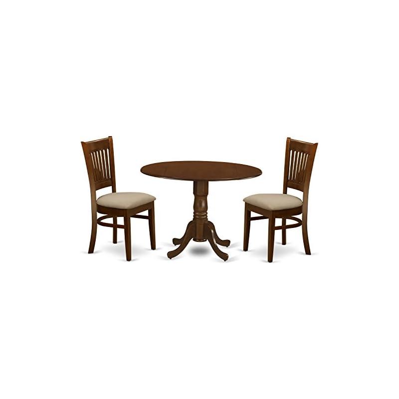 East West Furniture DLVA3-ESP-C 3 Piece