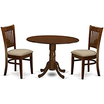 Amazon Com 3 Piece Dining Set 36 Quot Drop Leaf Table With