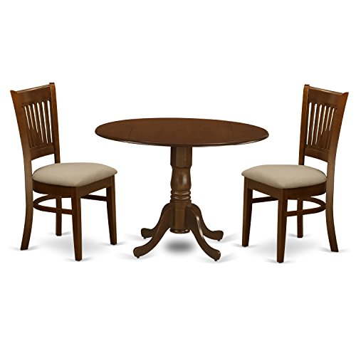East West Furniture DLVA3-ESP-C 3 Piece Kenley Dining Table With Two 9