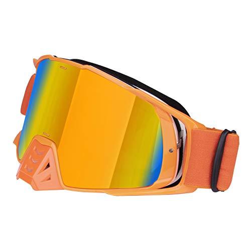 Lanlan Accesorios de Coche Gafas de Moto Gafas de Montar Motor Parabrisas Casco Parabrisas Gafas Naranja