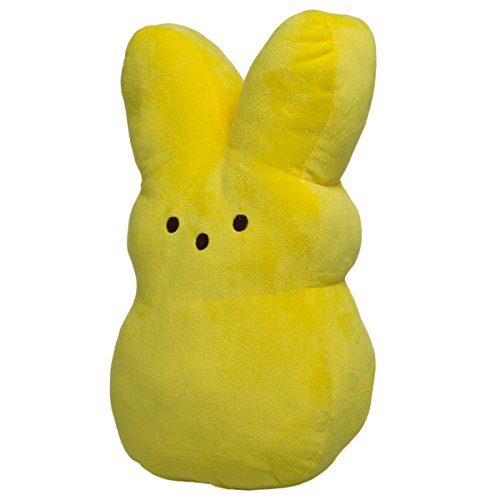 Peeps Large 15 Inch Plush Peeps Bunny Cute Rabbit Pillow Soft Stuffed Animal Toy Cushion