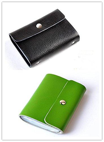 Amazon hezhong soft premium leather wallets credit card holder hezhong soft premium leather wallets credit card holder id business case purse unisex blackgreen colourmoves