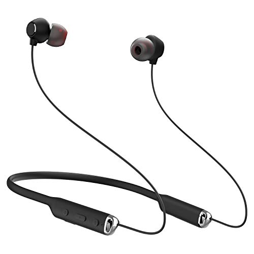Bluetooth Headphones Neckband Wireless Earbuds, Jialebi Magnetic Noise Cancelling Bluetooth 4.1 Earphones Waterproof Sweatproof in-Ear Earphones CVC 6.0 Sports Earbuds with Mic 15 Hours Play Time