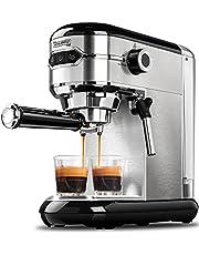 MICHELANGELO Espresso Machine, Stainless Steel Espresso Maker, Expresso Coffee Machine with Milk Frother, Small Coffee Maker for Home, 15 Bar Espresso Machine - Cappuccino, Latte
