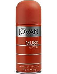 JOVAN MUSK by Jovan DEODORANT BODY SPRAY 5 OZ (Package of 5)
