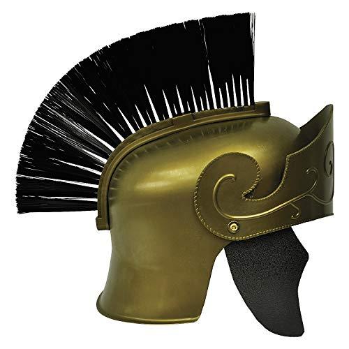 Fun Express - Roman Helmet Gd W Black Brush for Halloween - Apparel Accessories - Costume Accessories - Wigs & Beards - Halloween - 1 -