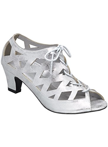 Pump Shoes Adult (Beacon Women's Adult Angel Steps Gail 12 Medium US Women / Silver)