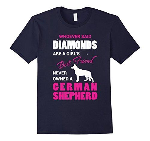A German Shepherd Is A Girls Best Friend T-shirt - Male 2...