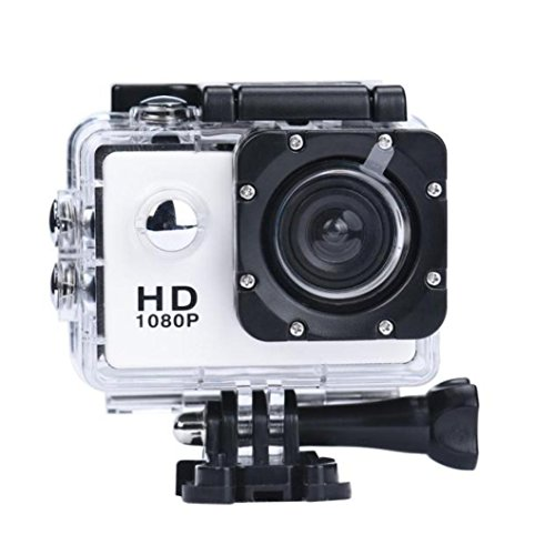 Dreamyth Mini 1080P Full HD DV Sports Recorder Car Waterproof Action Camera Camcorder Durable,American Warehouse Delivery (White)