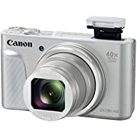 Canon PowerShot SX730 Digital Camera w/40x Optical Zoom & 3 Inch Tilt LCD - Wi-Fi, NFC, & Bluetooth Enabled (Silver)
