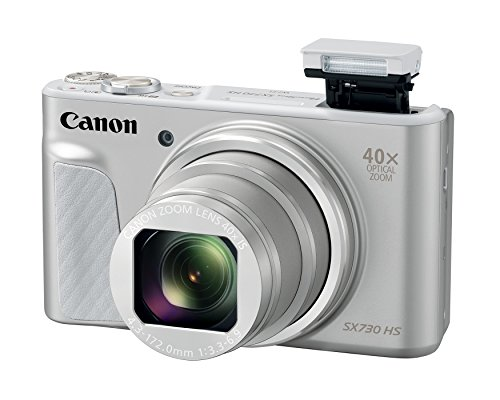 Canon PowerShot SX730 Digital Camera w/40x Optical Zoom & 3 Inch Tilt LCD - Wi-Fi, NFC, Bluetooth Enabled (Silver) ()
