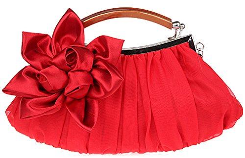 Red Silk Clutch Bag - 6