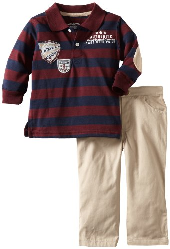 Little Rebels Baby Boys' Two Piece State Academy Pant Set