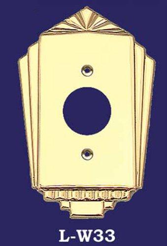 アールデコRecreated B00DC6EI2A Largeプラグカバープレート( l-w33 l-w33 ) ) B00DC6EI2A, 油谷町:91f48294 --- number-directory.top