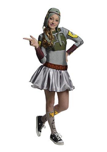[Star Wars Boba Fett Tween Costume Dress, Medium] (Star Wars Boba Fett Girls Costumes)