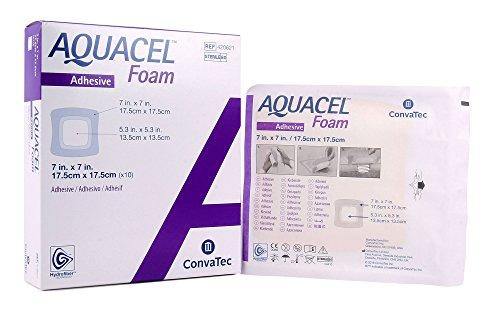 AQUACEL® Foam Dressing: Adhesive, Square: 17.5x17.5cm (7
