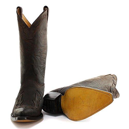 Grinders - botas de vaquero de cuero hombre