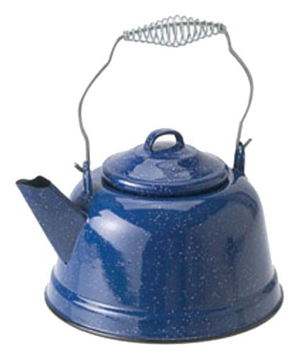 Enamelware 10-Cup Campfire Kettle made our list of Campfire Cooking Equipment You Can't Live Without with the best tools, accessories, utensils and cookware for your camp cooking creations!