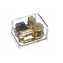 AMENL Wind-up Clear Acrylic Gold-plating Movement Music Box, Melody is Let it Go from Frozen