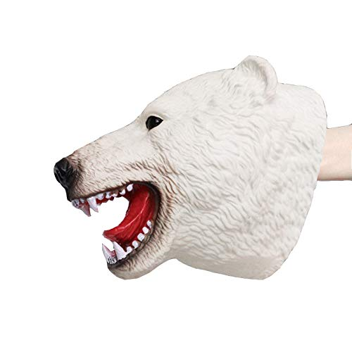 - WEKA Hand Puppets Animal Gloves Toy Role Play PVC Realistic Child Birthday For Kids Gift-Polar bear