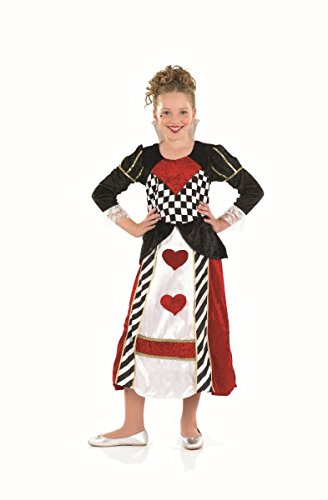 Large Girls Queen Of Hearts Girl Costume (Queen Of Hearts Halloween Costume Party City)