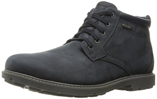 Rockport Mens RGD Buc WP Chukka Boot New Dress Blue