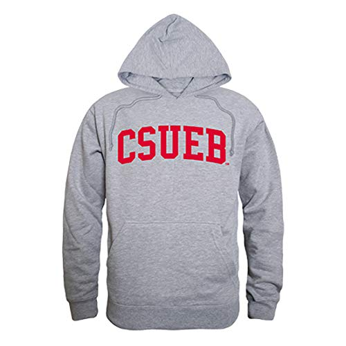 W Republic NCAA Cal State East Bay Pioneers Unisex 503Game Day Hoodie, Heather Grey, Medium