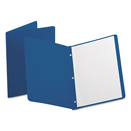Esselte Panel (Oxford 52538 Report Cover, 3 Fasteners, Panel and Border Cover, Dark Blue, 25/Box)