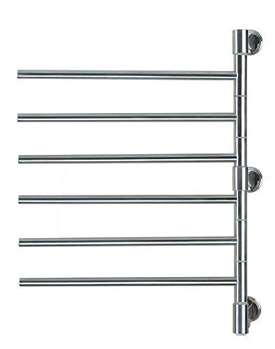 Amba J-D006 P Swivel Jack 22-Inch x 29-Inch Towel Warmer, Polished