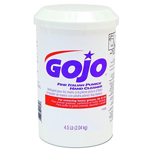 GOJO 113506 Fine Italian Pumice Hand Cleaner, Lemon, 4 1/2 lb Cartridge (Case of 6) by Gojo