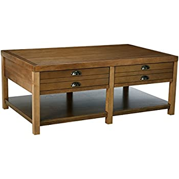 Coaster Occasional Group Casual Light Oak Cottage Coffee Table With 2  Drawers