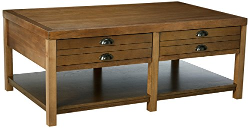 Cheap Coaster Home Furnishings Rosenberg 2-Drawer Coffee Table Light Oak