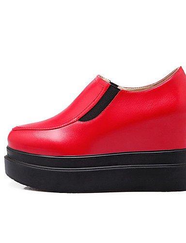 GGX/ Damen-High Heels-Lässig-Kunststoff-Keilabsatz-Creepers-Schwarz / Rot / Weiß black-us8 / eu39 / uk6 / cn39