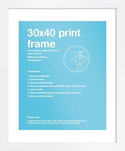 GB eye FMSEA1WH White Wooden Art Print Poster Frame 30 X 40cm GB eye Ltd