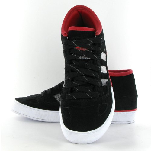 huge selection of 8c5b8 d760a Adidas Ciero Mid Black Red Leather Mens Trainers Amazon.co.uk Shoes  Bags