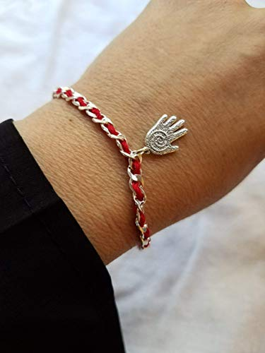 red Bendel Bracelet for Luck, Protection and Prosperity | Alef Bet by Paula ()