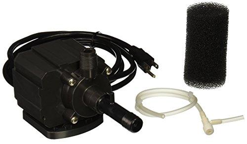 Danner Supreme 06002 Model 2 Aqua-Mag Air Fractionating Water Pump 250 GPH - Adjustable Venturi, Aerating Impeller, Energy Efficiency, 10 Foot Cord, Muffler - Saltwater, Freshwater, Submerged, Inline