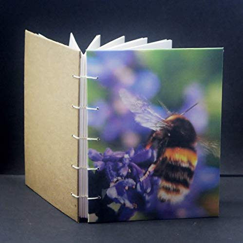 - The Bumble Bee, Coptic Stitch Journal, Blank Note pad, Diary, Hand Stitched Binding, Blank Journal, Notebook, Planner, Hand Sewn