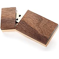 64GB USB 3.0 - Single Item - Wooden Grove Walnut Front with Maple Back Design