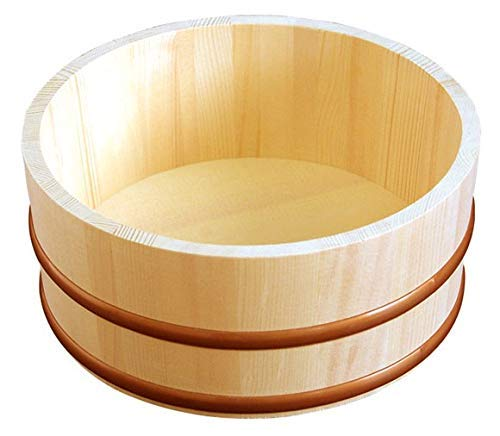Yamako Natural Wood Made Japanese Bath Bucket 12462 (Bath Wood Bucket)